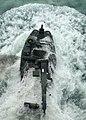 US Navy 101005-N-7680E-057 An amphibious assault vehicle (AAV) assigned to Alpha Company of the 2nd Assault Amphibian Battalion leaves the well dec.jpg