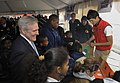 US Navy 101104-N-7676W-067 Secretary of the Navy Ray Mabus, watches New York school children build a laser maze during the opening of a new communi.jpg