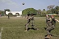 US Navy 110205-A-2476M-048 U.S. Marines and Colombian marines play soccer during a barbeque celebrating the completion of subject matter exchanges.jpg