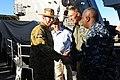 US Navy 110722-N-WA347-007 Cmdr. A. D. Hull greets Australian Army Gen. David Hurley.jpg