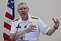 US Navy 110830-N-HW977-622 Vice Adm. Kevin McCoy, commander of Naval Sea Systems Command, delivers the keynote address at a luncheon during Fleet M.jpg