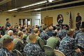 US Navy 110928-N-ZN240-061 Vice Adm. Scott Swift, commander of U.S. 7th Fleet, answers a question from Aviation Ordnanceman 3rd Class Adam Hill.jpg