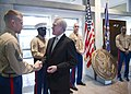 US Navy 111115-N-AC887-001 Secretary of the Navy (SECNAV) the Honorable Ray Mabus greets Marines at the U.S. Embassy in Bulgaria.jpg