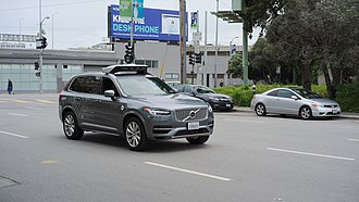 Uber (company) - Uber autonomous vehicle Volvo XC90 in San Francisco