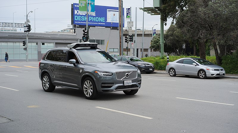 File:Uber Self Driving Volvo at Harrison at 4th.jpg