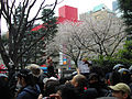 Ultra-left activists protest against anti-Korean rally on 31 March 2013 at Shin-Okubo 02.JPG