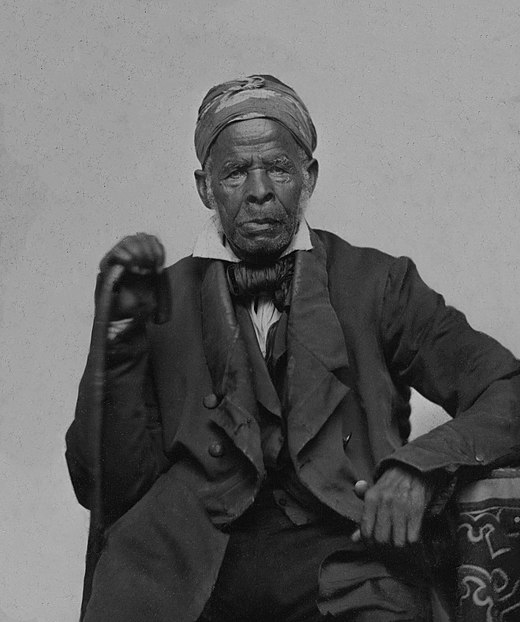 Uncle Marian, a slave of great notoriety, of North Carolina. Daguerreotype of elderly North Carolina slave, circa 1850. Uncle Marian A Slave of Great Notoriety of North Carolina daguerreotype circa 1850.jpg