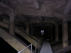 Merseyway Shopping Centre - Some of the supports beneath Merseyway