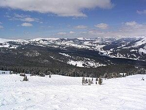 Ski run in the Union Meadows area of Copper Mo...