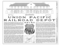 Union Pacific Railroad Depot, Intersection of Kelbaker and Kelso Cima Roads, Kelso, San Bernardino County, CA HABS CAL,36-KELSO,1- (sheet 1 of 10).png