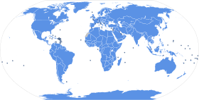 Map showing the Member states of the United NationsThis map does not represent the view of its members or the UN concerning the legal status of any country,[2] nor does it accurately reflect which areas' governments have UN representation.