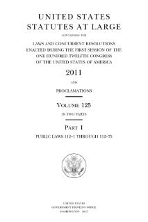 An official record of Acts of Congress and concurrent resolutions