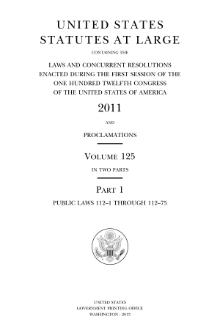United States Statutes at Large Volume 125.djvu