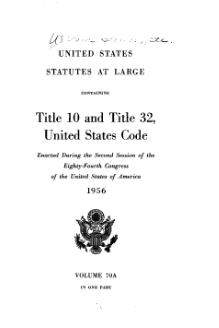 United States Statutes at Large Volume 70A.djvu