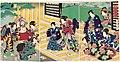 Utagawa Kunisada II - An Auspicious New Year Manzai Dance for Genji.jpg