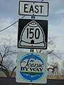 Utah State Route 150 East sign, Apr 16.jpg