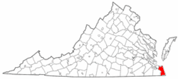 Location in the Commonwealth o Virginia.