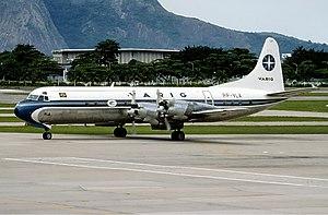 Varig - Lockheed L-188 Electra at Rio de Janeiro-Santos Dumont Airport in 1991.