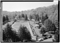 VIEW OF GARDENS FROM ROOF OF HOTEL - West Baden Springs Hotel, State Route 56, West Baden Springs, Orange County, IN HAER IND,59-BADW,1-10.tif