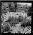 VIEW SHOWING FRONT OF CONCRETE BUILDING, LOOKING NORTH - Winter Quarters Mine, Scofield, Carbon County, UT HAER UTAH,4-SCOF,2-1.tif