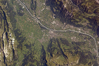 Vaduz - View of Vaduz from space