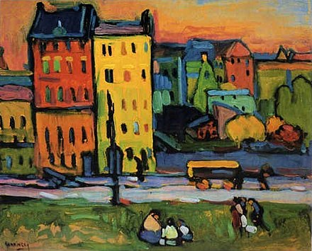 Vassily Kandinsky's Houses in Munich (1908)