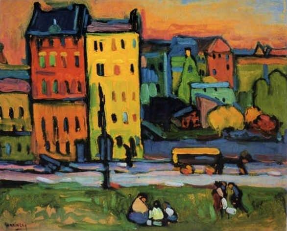 Vassily Kandinsky, 1908 - Houses in Munich