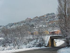Fossato di Vico - Image: Veduta di Fossato in neve