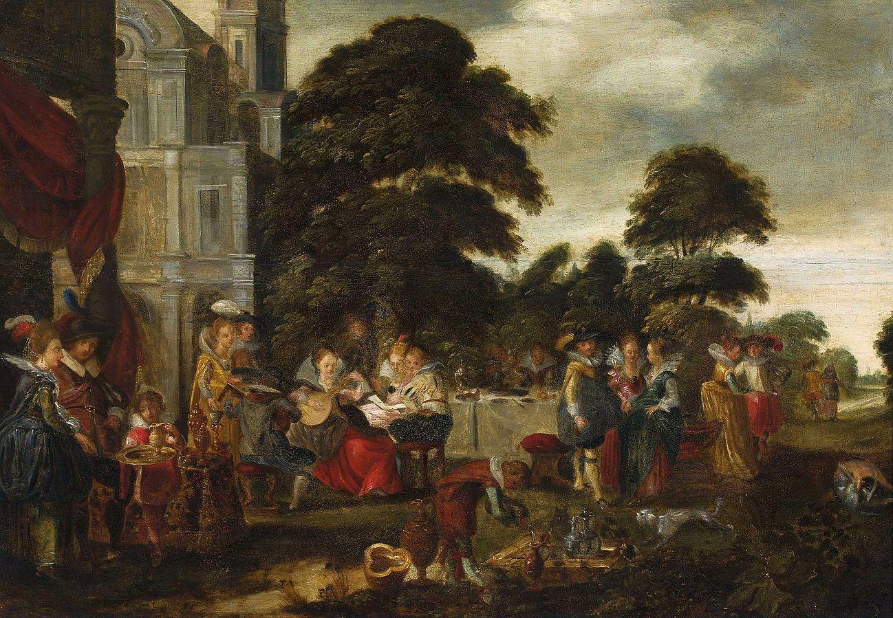 Wesołe towarzystwo w parku