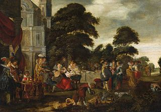 Merry company in the park
