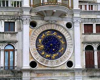 St Mark's Clock - The clock face after restoration (2006)