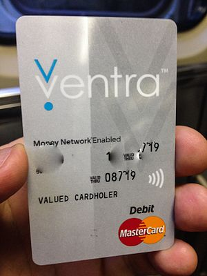 Ventra - a Ventra Card (numbers blurred out)