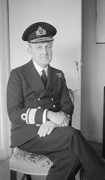Rear Admiral John Godfrey, in whose name the Trout memo was circulated Vice Admiral Godfrey WWII IWM A 20777.jpg
