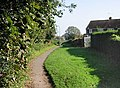 View along Church Lane footpath - geograph.org.uk - 585510.jpg