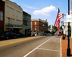 North Main Street in Greeneville