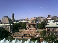 A view of Columbia University. Note that College Walk was under construction for Summer 2007.