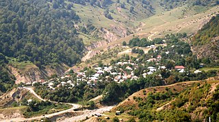 View of Laza village in Gabala District of Azerbaijan.jpg