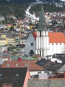 Udsigt over Molde med domkirken