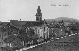 The village of Brion at the start of the 20th century