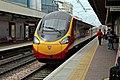 """Virgin Class 390, 390010 """"A Decade of Progress"""", Warrington Bank Quay railway station (geograph 4019945).jpg"""