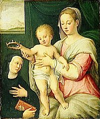 Virgin and Child with Saint
