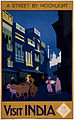 Visit India, a street by moonlight, travel poster, ca. 1920.jpg