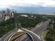 Vista de la Ciudad de México desde Periferico y Paseo de la Reforma