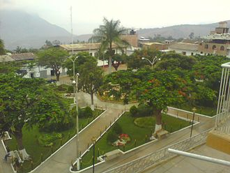 Cascas - Plaza  de Armas of Cascas in January