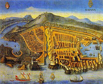 Republic of Ragusa - Painting of Dubrovnik from 1667