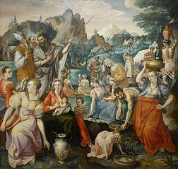 Gathering of manna