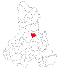 Location of Voşlăbeni