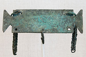 Serapis - Bronze votive tablet inscribed to Serapis (2nd century)
