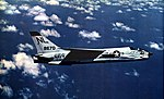 Vought F8U-2N Crusader of VF-154 in flight, circa in 1962.jpg