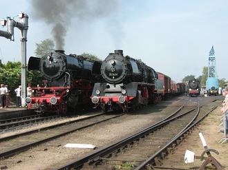 Veluwsche Stoomtrein Maatschappij - Two German locomotives of the VSM.